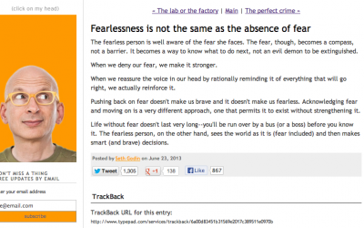 Fearlessness is not the same as the absence of fear